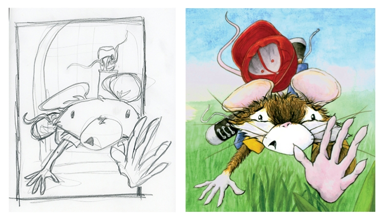 sketch to painting