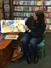 Jeni reads at Story Time