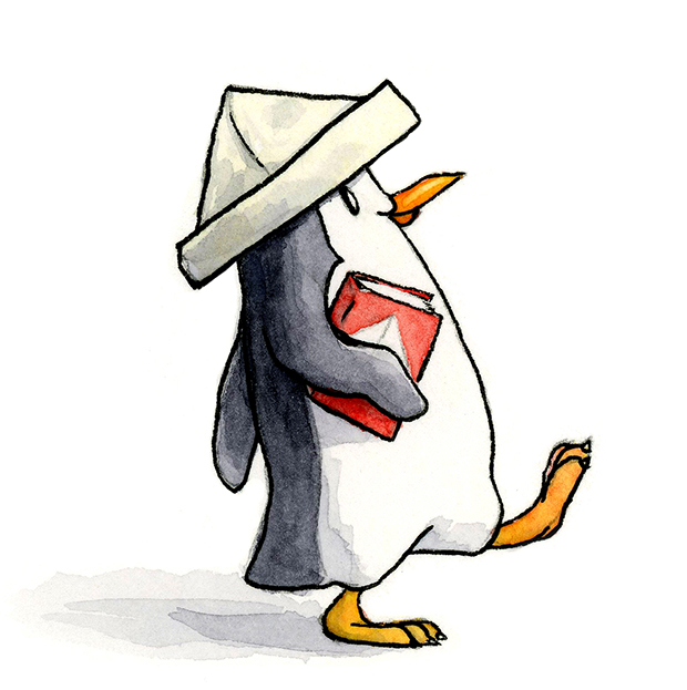 penguin walking